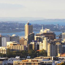 aerial view of auckland highrises