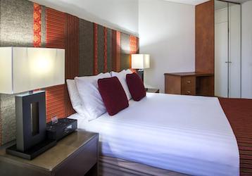bucks accommodation with tiled headboard
