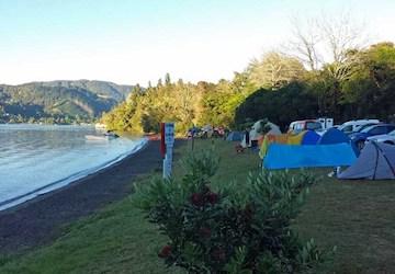 lakeside camping rotorua
