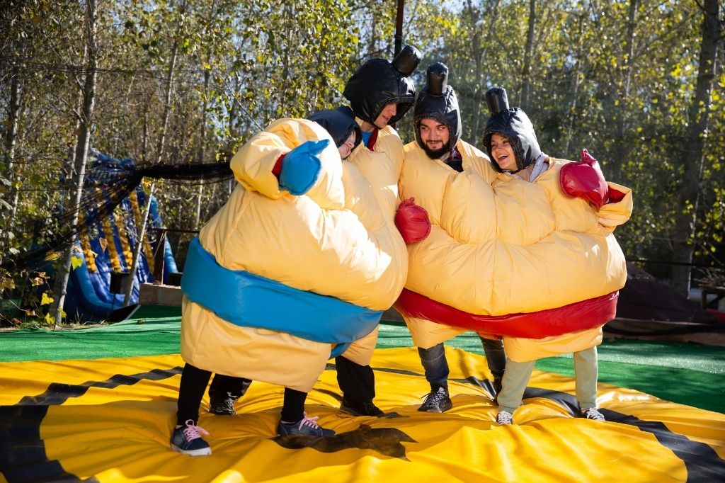 team trips activity sumo wrestling