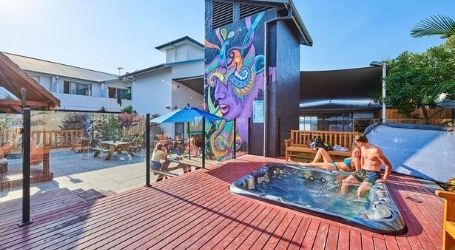 byron bay accommodation for the boys team trip