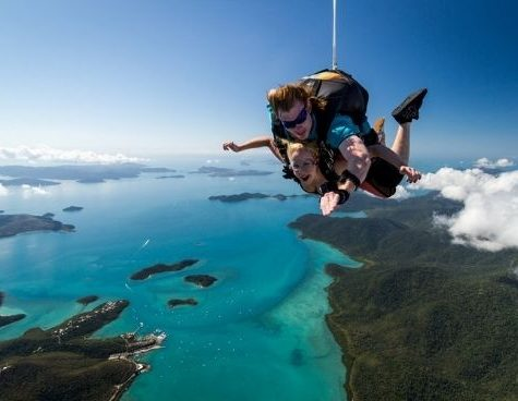 team trips for the girls byron bay skydiving