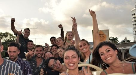 cairns for the girls team trips party bus