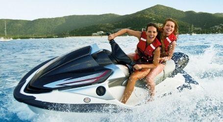 for the girls airlie beach team trips jet ski tour