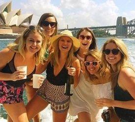sydney girls team trip boat cruise